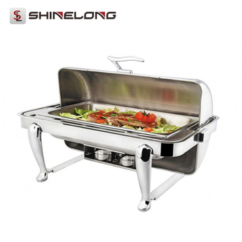 C060 Rectangular Chafing Dish Set With Curve Legs / Chafing Dishes for Sale