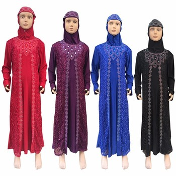 Children islamic clothing fashion sale abaya for kids wholesale cheap in Yiwu