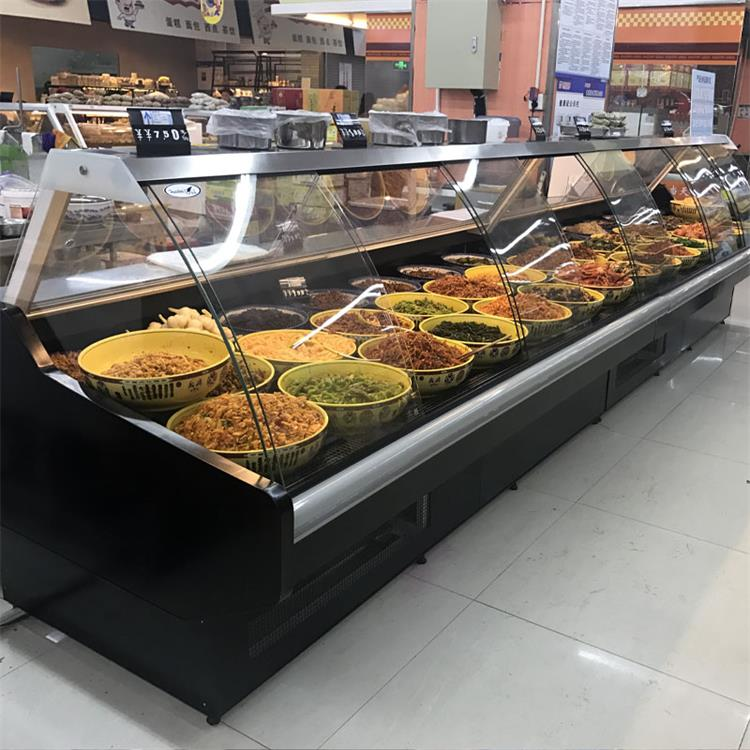Green Color Type Curved Glass Door Butcher Meat Deli Display Refrigerator  Chiller With Cold Storage Room - Buy Butcher Meat Shop Meat