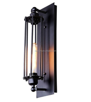 Vintage style retro single-headed water pipe cage industrial wall lamp/wall sconce