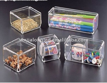 Clear Acrylic Storage Box Or Divided Storage Boxes