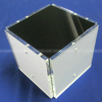 4 Sided Square Acrylic Magnetic Photo Cube,4x4 Lucite Cube Picture ...