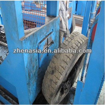 55 * 2kw Waste Tyre Shredding Recycling Machine 16 r / min use Rubber Grinding