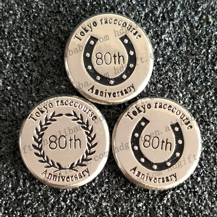Japan Tokyo Racecourse 80th Anniversary Gold Plating Souvenir Coins Medals