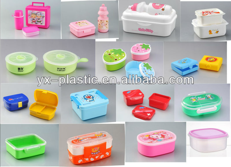 plastic handle casket mini storeage box  children lunch boxes set