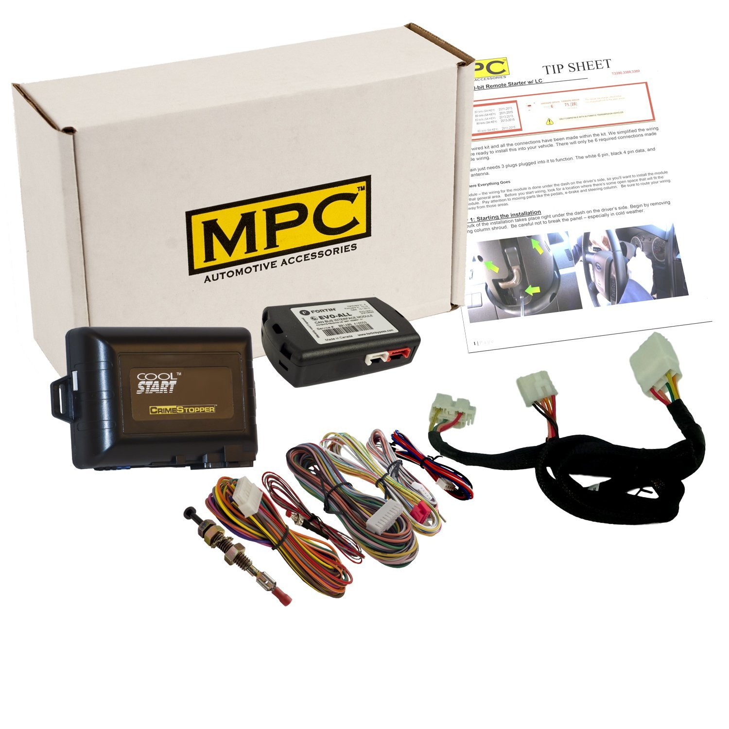 get quotations � mpc complete add-on remote start kit with t-harness for  2016-2018