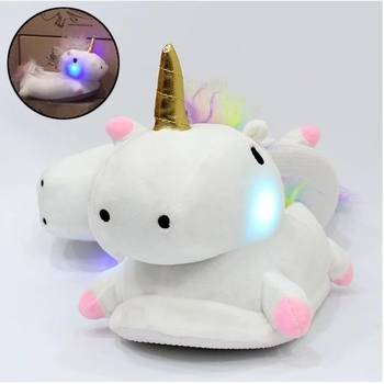 0e74a28c141 Winter Plush Unicorn Slippers Cute Men Adult Slippers Women Home Shoes With  Heel Pantufas