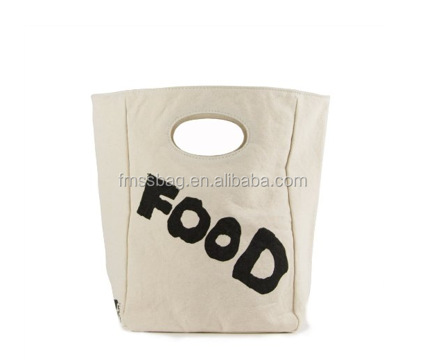 Custom Simple And Fashion Thick Cotton Canvas Lunch Bag Ladies Handbag Wholesale