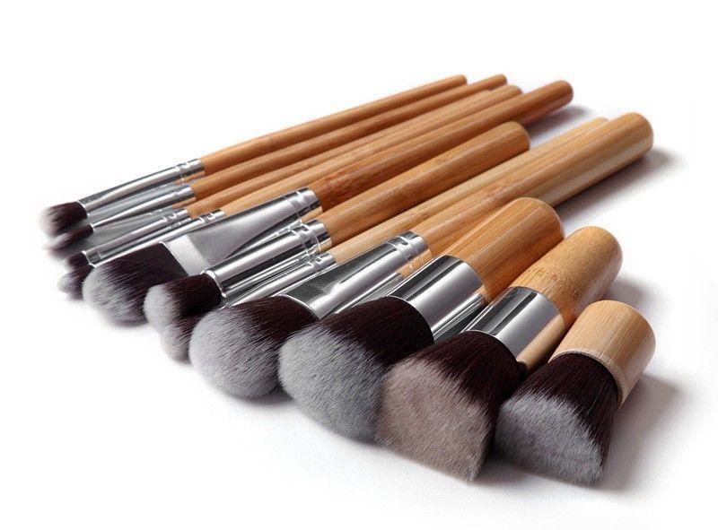gute qualit t 11 teilig bambus make up pinsel kabuki kosmetik pinsel set makeupb rste produkt. Black Bedroom Furniture Sets. Home Design Ideas
