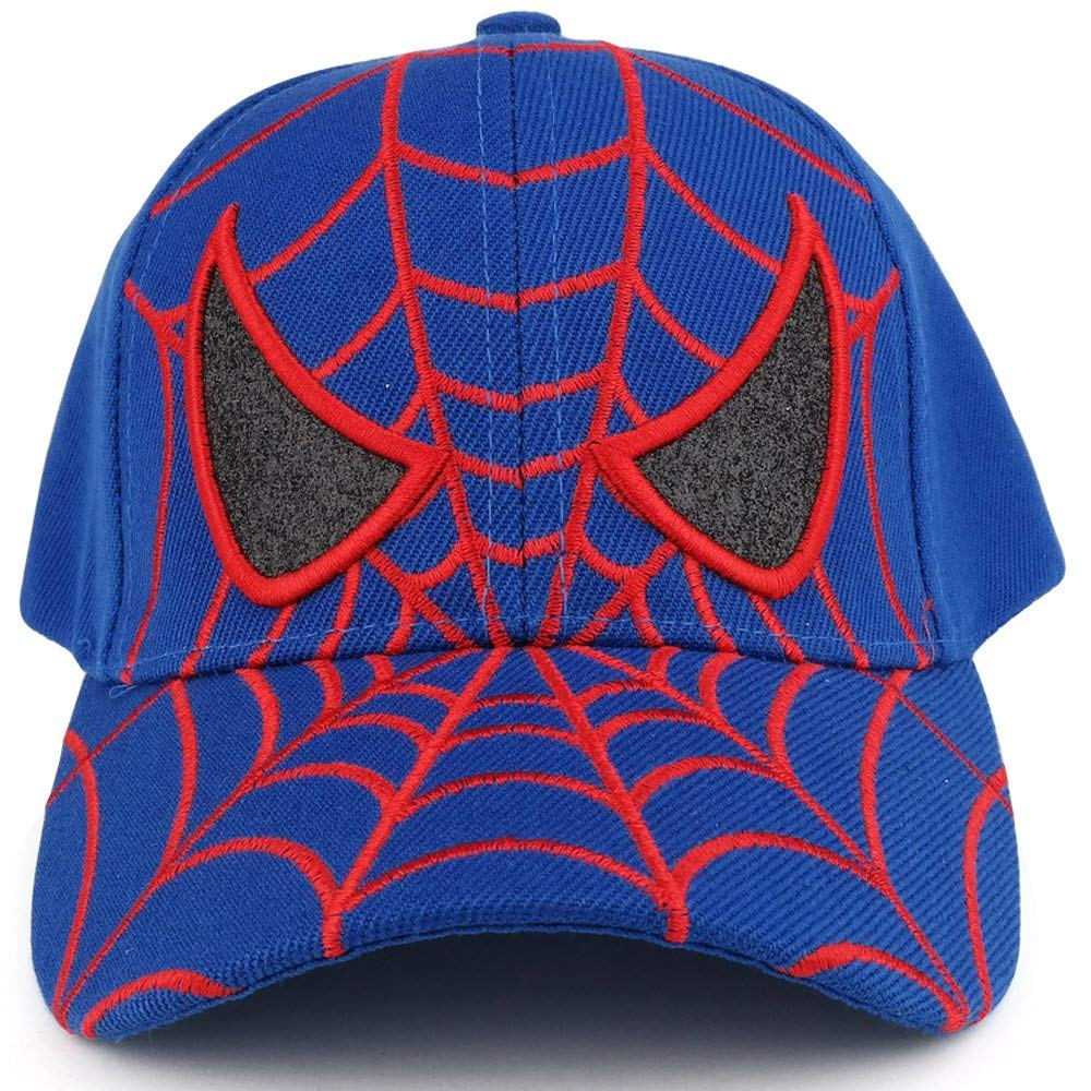 Get Quotations · Trendy Apparel Shop Youth Spider Web and Eyes Embroidered  Structured Baseball Cap 1b7185293af