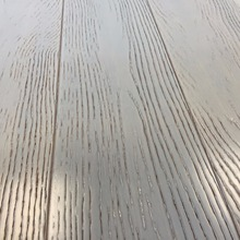 White color solid bamboo flooring with embossed finish