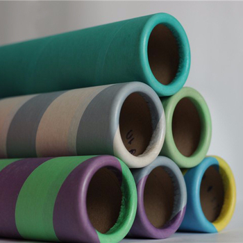 colored non-food grade printed parchment paper glassine paper for textile tube like POY/FDY
