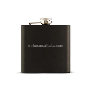 Stainless Steel hip flask for Storing Whiskey/Alcohol -6 oz -matt black