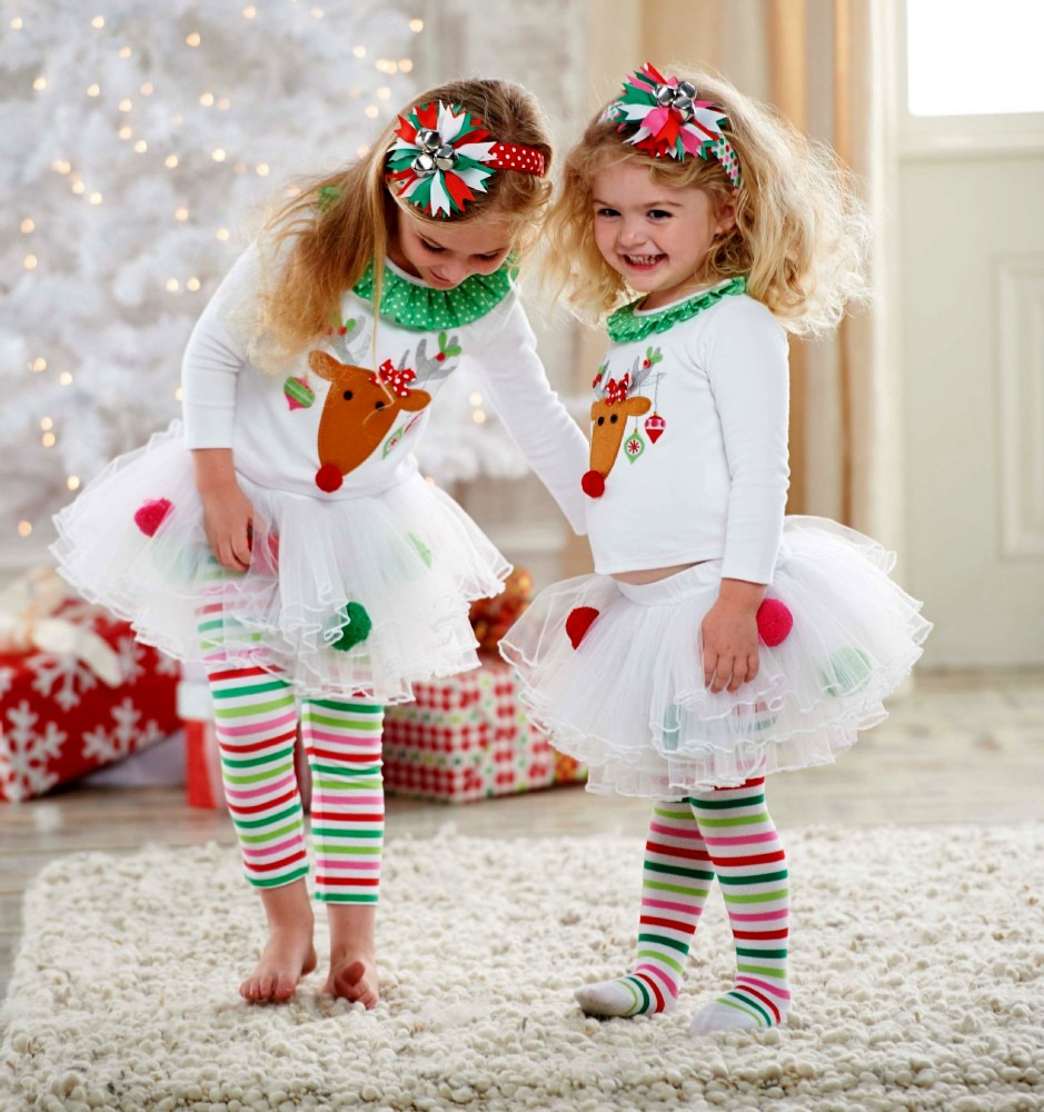 Toddler Christmas Outfit.Baby Girl Christmas Toddler Children Clothing Sets Kids Clothes Reindeer Kids Clothes Top Tutu Skirt Legging Pants Set