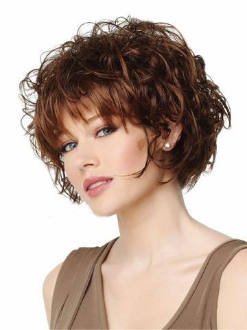 Короткая вьющийся волос парик женщины синтетический парики вырезать эльфа парик кепка парики Sinteticas с челкой