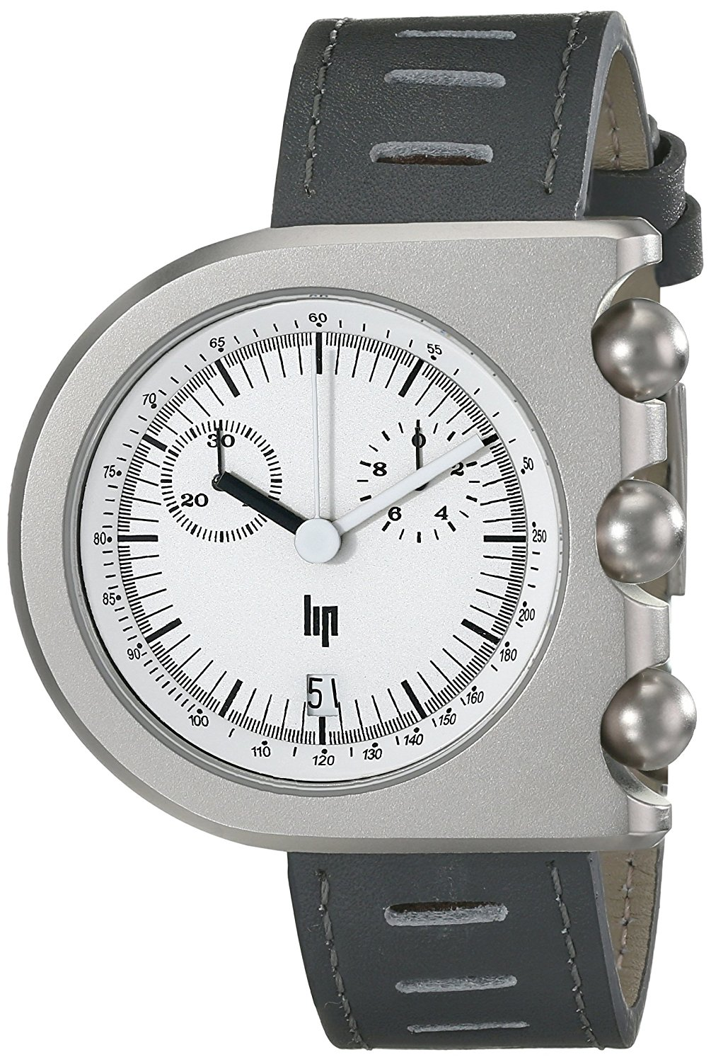Lip Men's 1892522 Mach 2000 Chronograph Analog Display Swiss Quartz Grey Watch