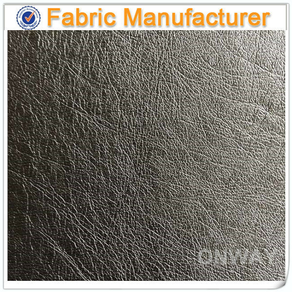 New Design Artificial PU Leather for Bags leather keychain PL-A820 100% pu synthetic flock embossed sofa leather