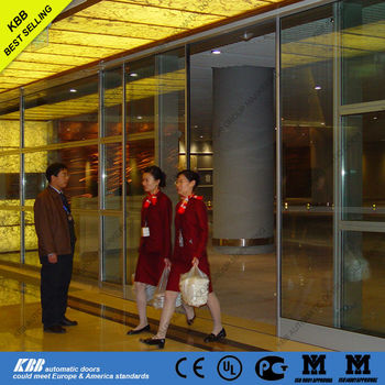Airport Supermarket Automatic Commercial Sliding Glass Entry Door