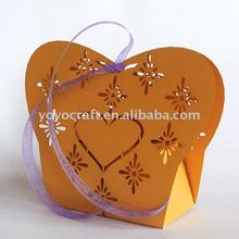 wedding supply filigree favor box made from 250g pearl paper