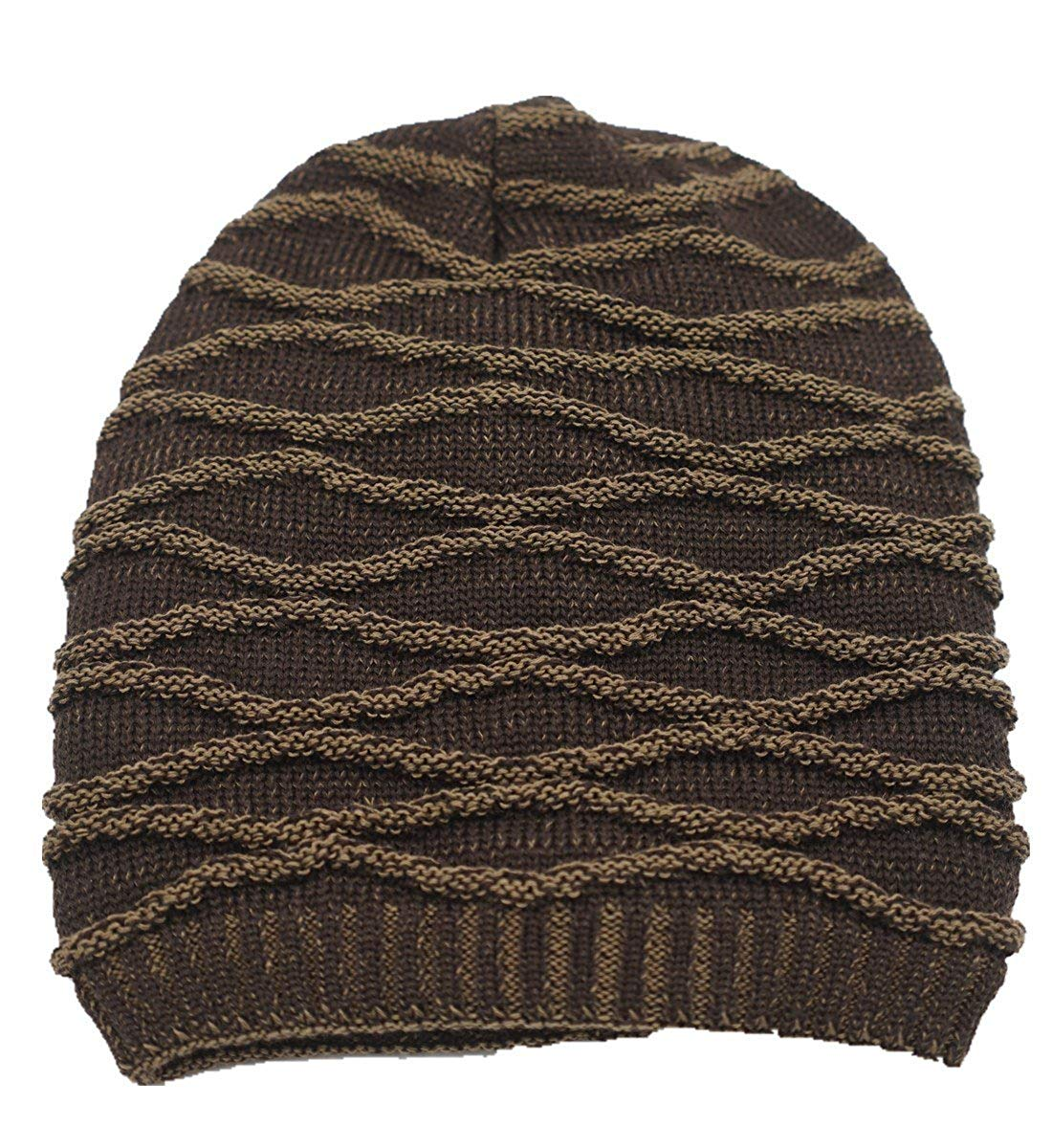 Get Quotations · LLmoway Mens Slouchy Cable Knit Beanie Long Oversized  Winter Warm Baggy Hat a79556eb78e