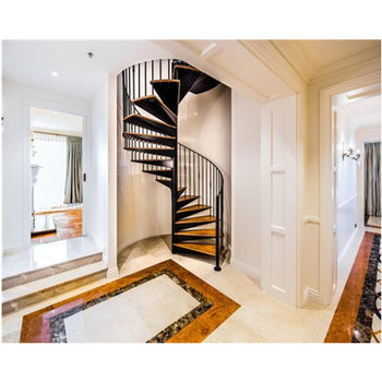 Sprial Stainless Steel Handle Design Interior Wood Stair Buy Wood Stair Designinterior Wood Stairsstainless Steel Wood Stair Product On
