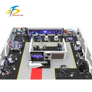 50~300 Square Meter Amusement parks 9d vr one store 9d simulator video game machine for vr theme park