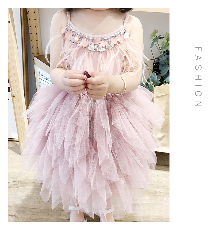 2986 New design hot sale excellent princess dress girls kids