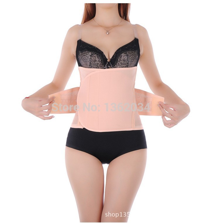 f6344ce5c5a Get Quotations · Women Adjustable Velcro Waist trainer Postpartum Recovery Belts  Mesh Breathable Pregnancy C-Section Tummy Control