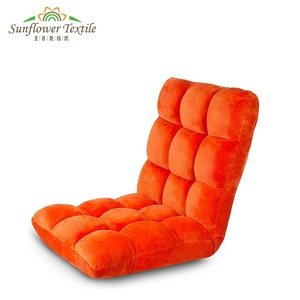 Adjustable Floor Gaming Sofa Chair 6-Position Cushioned Folding Lazy Recliner