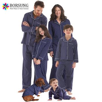 Family Christmas Pajamas Blue.Latest Cotton Frocks Design Blue Matching Christmas Strips And Dots Pajamas Family Christmas Pajamas View Christmas Pajamas Borsung Product Details