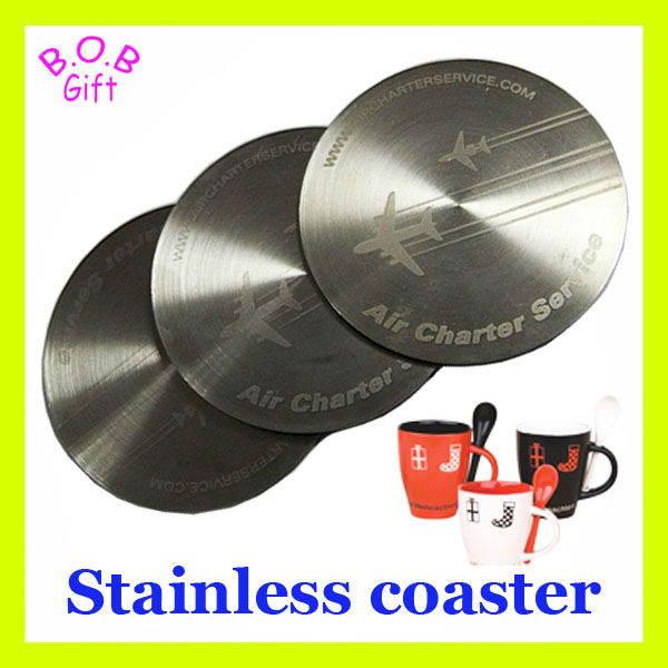 metal coaster or aluminium coaster/stainless steel coaster