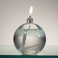 Hand Blown Glass Oil Lamp,Oil Lamp Wicks,Clear Glass Oil Lamp