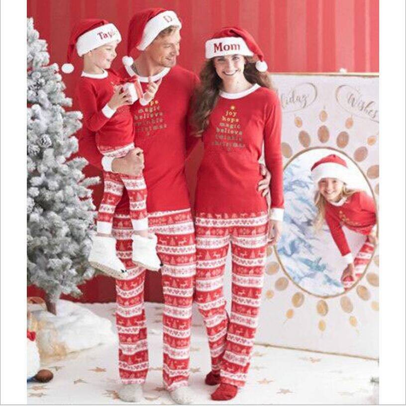 DM 781 Hot Selling Christmas Family Matching Suit Print Loungewear Two Peices Womens Christmas Pajamas