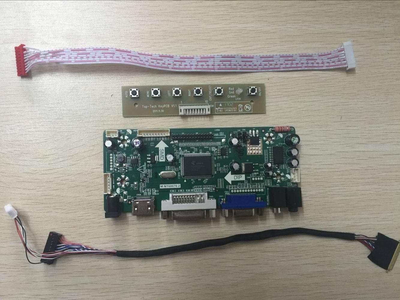 Kit for B156HW01 V1 TV+HDMI+VGA+USB LCD LED screen Controller Driver Board
