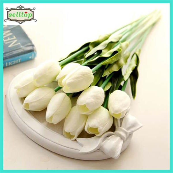 35cm mini pu tulip real touch <strong>flowers</strong> artificial