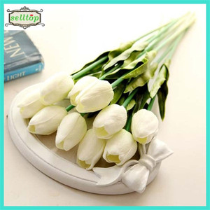 35cm mini pu tulip real touch flowers artificial