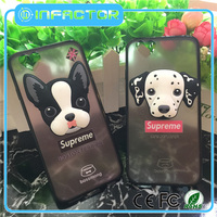 Hot selling 2d 3d animal The dog mobile phone case with high quality