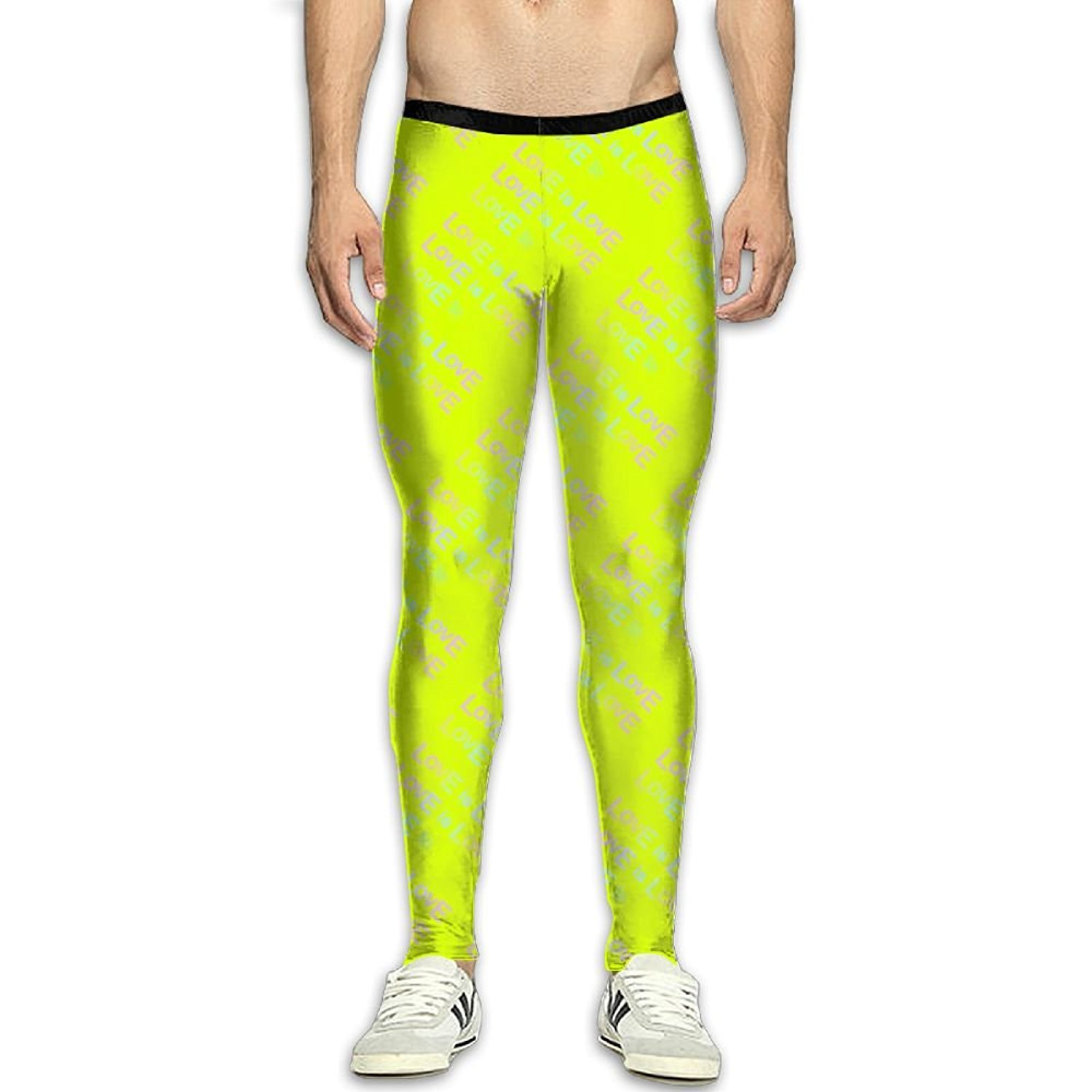 13e72a13abdcf Get Quotations · Virgo Love Is Love Stretchy Compression Pants/Running  Tights Gym Tights For Men Youth Drawstring