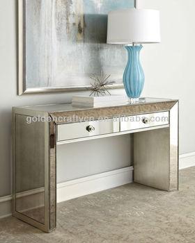 Attractive Home Decor Venetian Mirrored Console Table