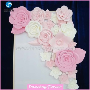 Pink and blue roman theme artificial paper flowers wedding or stage pink and blue roman theme artificial paper flowers wedding or stage decoration mightylinksfo