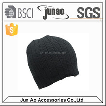 cheap plain 100 acrylic knitted beanies/thick custom acrylic knitted cuff beanie