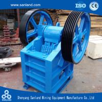Frame construction series jaw crusher