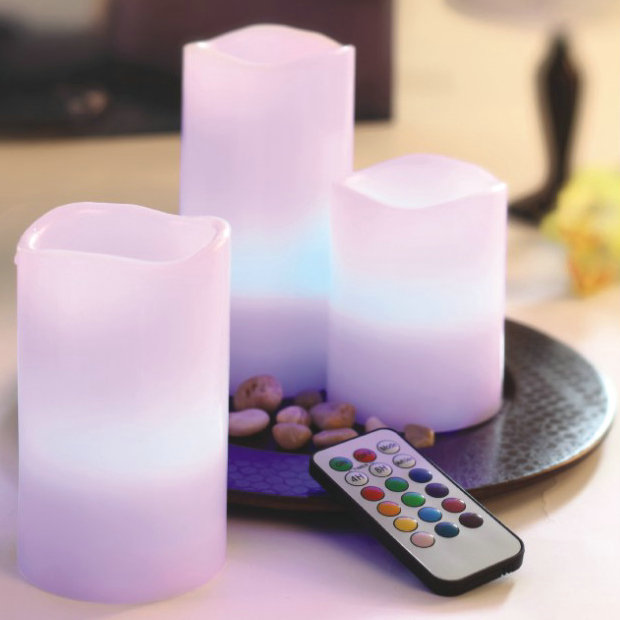 remote control party supply 3pc led luminaire candle