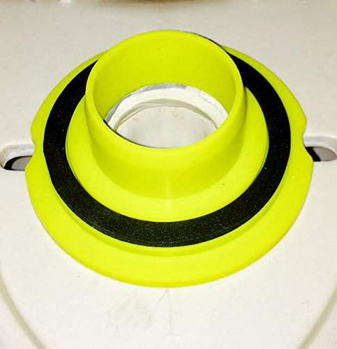 Leakno Gasket - Wax Free Toilet Seal | Toilet seal | Toilet Gasket Seal | Toilet Seal, Waxless Toilet Ring | Universal Kit + Hardware Set (1)