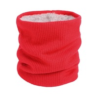 Unisex winter neck warmer men women double layer knitted scarf