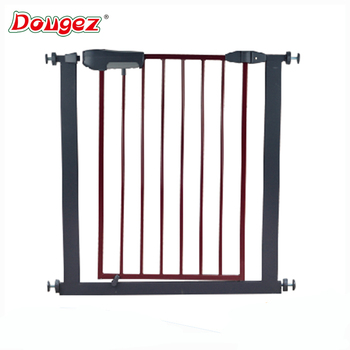 Factory Price Wholesale Brown , ECO Friendly,adjustable Indoor Iron Fence Baby  Safety Gate