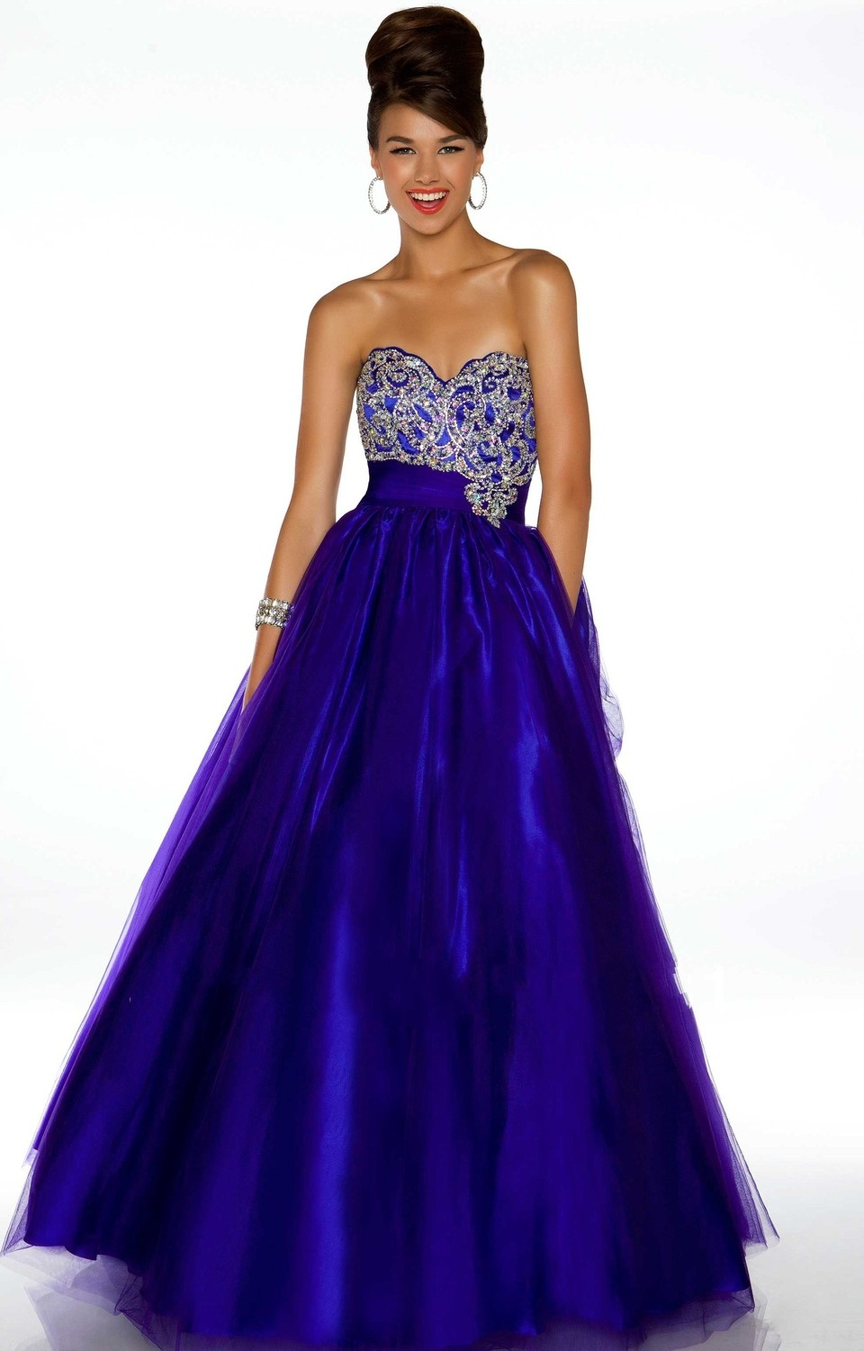 Wholesale 2015 New Ball Gown Prom Dresses Royal Blue ...  Wholesale 2015 ...
