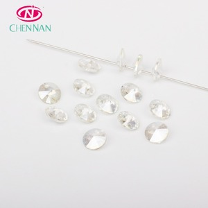 Pujiang Yiwu High Luster Glass Beads clothes decoration rivoli rhinestone with one hole