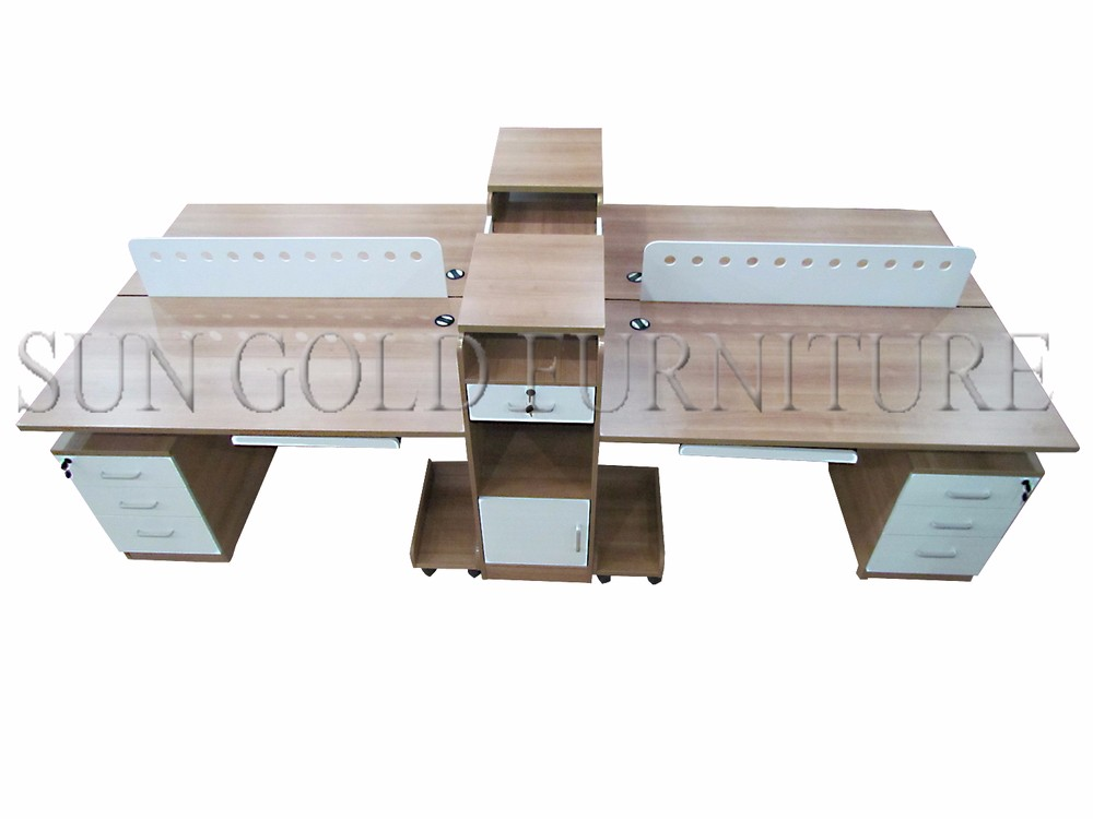modern used office desk types 4 person office workstation