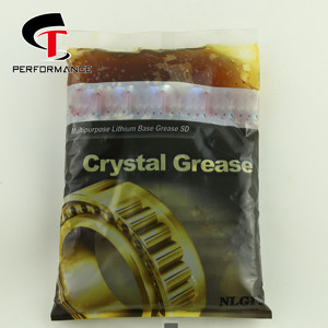 Customized for the Pakistani Good Transparent Crystal Grease Multi purpose 500g and 1kg Pouch Plastic box Packing Lithium Grease